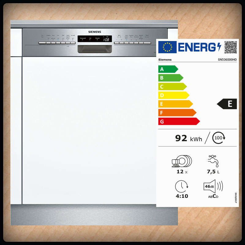 Siemens SN536S00HD Einbaugeschirrspüler