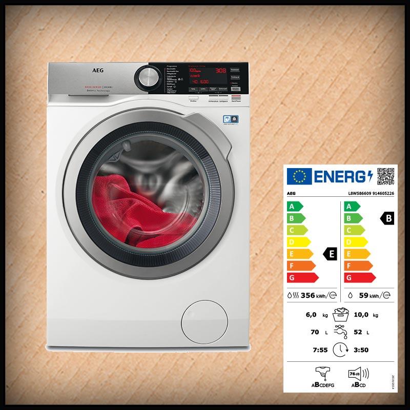 AEG L8WS86609 Waschtrockner