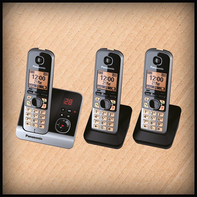 Panasonic KX-TG6721 3 DECT-Telefone