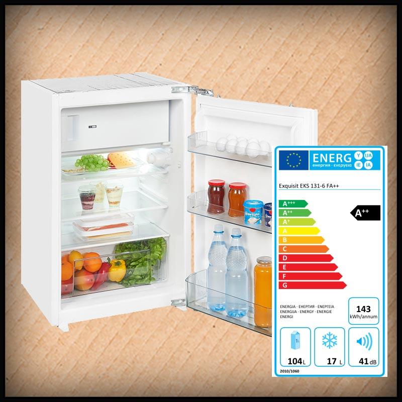 Exquisit EKS 131-6 Einbaukühlschrank 88cm